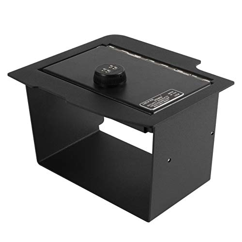 Lock'er Down Console Safe with 4 Digit Combo, Keep Personal Items Secure and Organized in Car, Compatible With 2013 - 2017 Dodge Ram Pickups with CD Player