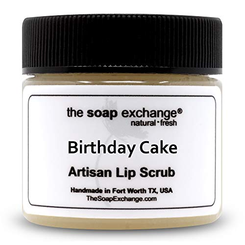 The Soap Exchange Lip Scrub - Peppermint Flavor - Hand Crafted 1.5 oz / 42.5 g Natural Lip Care,...