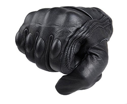 FXC Touch Screen Full Finger Motorcycle Leather Gloves Men's Premium Protective motorbike
