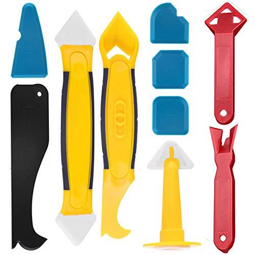 Silikonentferner, Bst4UDirect Inner Corner Kleber und Kleberentferner Applikator Beauty Sewing Tool Multi-Angle Rout Sealant Remover Tool für Badezimmer Küche Zimmer Bodenecke (10PCS)