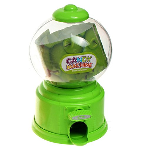 Kangkang@ Jelly Beans Sugar Snack Dispenser Coin Bank Storage Box Simulation Vending Machine Christmas Holiday Birthday Gift Toy green