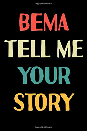 Bema Tell Me Your Story: Gratitude Journal 100 Pages, 6 x 9 (15.24 x 22.86 cm), Solt Cover, Matte Finish ( Memories Themed NoteBook )