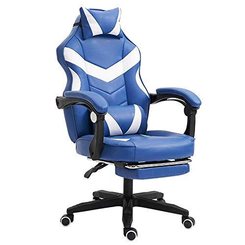 N/Z Tägliche Ausrüstung Home Office Stuhl Gaming Chair Racing Ergonomischer Ledersessel Multifunktionsstuhl mit hoher Rückenlehne