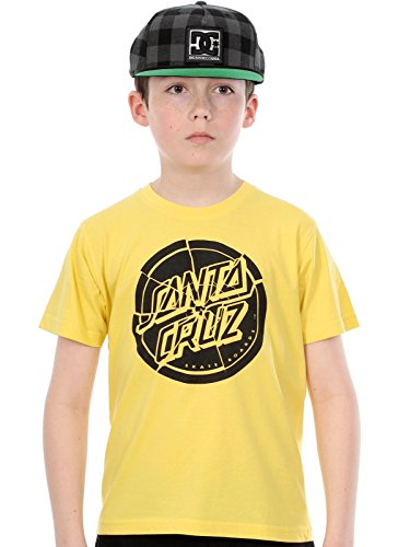 SANTA CRUZ T-Shirt Manica Corta Youth Shattered DOT S/S Giallo 10-12 Anni (140/150 cm)