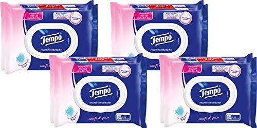 Tempo Toilettenpapier feucht Sanft & Pur Duo-Pack 2 x 42, 4er Pack (4 x 2 Stück)