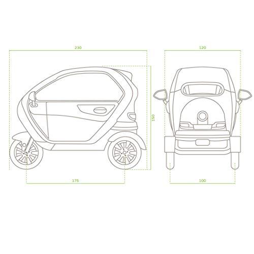 Elektromobil mit Kabine 2 Pers. 1500W Bild 6*