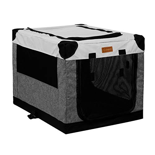 Akinerri Folding Soft Dog Pet Crate Kennel,Soft Collapsible Dog Crate and Kennel with Leak Proof Bottom for Indoor or Travel Use