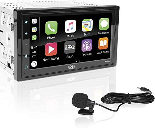 BOSS Audio BVCP9685A Apple Carplay Android Auto Car Multimedia Player - Double Din Car Stereo, 6.75 Inch LCD Touchscreen Monitor, Bluetooth, MP3 Player, USB Port, A/V Input, Am/FM Car Radio (Renewed)
