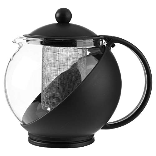 JJA Théière - 1,25L - Verre - Noir