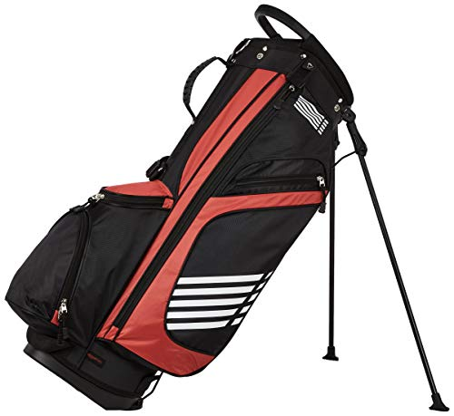 Amazon Basics - Bolsa de golf con caballete, color Rojo