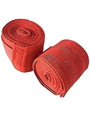 قفازات ملاكمة يدوية مطاطية من ام ام ايه لحماية قبضة اليد 2.5 متر ضمادات قفازات ملاكمة لفائف الملاكمة (قطعتان)