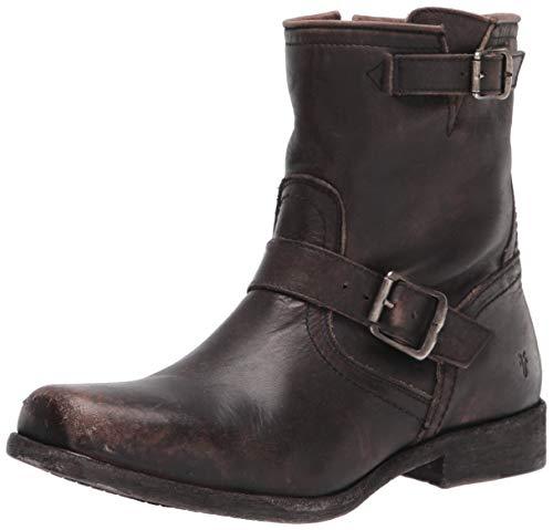Frye Men's Smith Engineer Motorcycle Boot, Black, 10.5