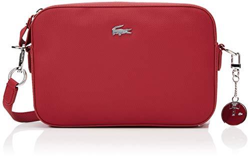 Lacoste - Daily Classic, Bolsos bandolera Mujer, Rojo (Rhubarb 476), 5x16.5x25.5 cm (W x H L)