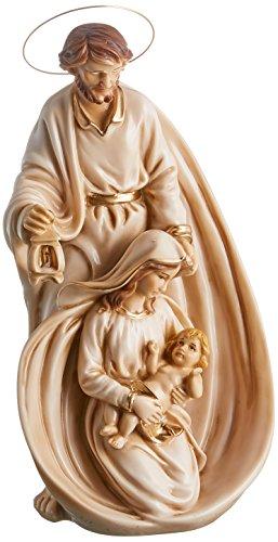 Joana Darque Heilige Familie mit Saint Joseph und weißer Kerze Marfinite, 32 x 13 x 13 cm
