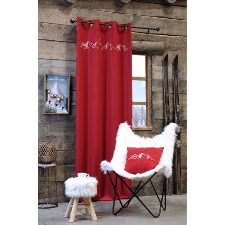 Stof Rideau 135 x 260 cm CHARVIN Rouge