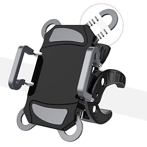Fahrradständer, Worcord Fahrrad Handyhalter Halterung Universal des Lenker mit 360° Drehbar aus Gummi Größe verstellbar für iPhone X 8 8 Plus 7 6s, Samsung S8 S7 J5 A5, Huawei P9 und Geräte GPS