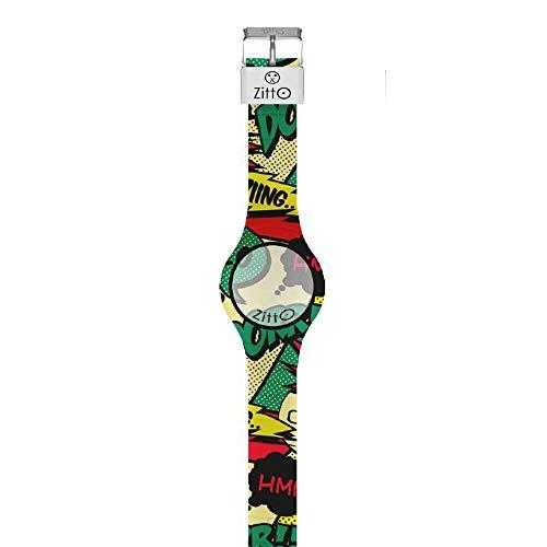 Orologio digitale piccolo ZITTO COMICS in silicone multicolore TOTALACTION-MC-MINI