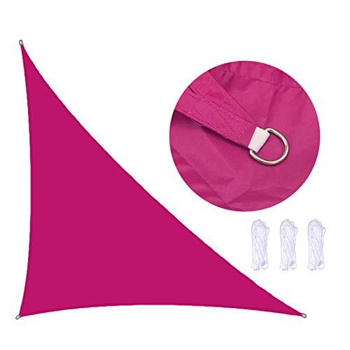 YQYJX Voile D'ombrage Imperméable Triangulaire 3 * 4 * 5 Mètres pour Jardin & Terrasse,Rose Red