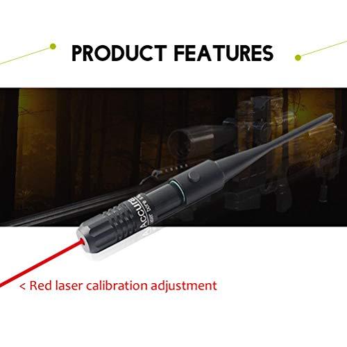 Grseme Bore Sighter Kit for Caliber, Red Dot Laser Scope, Red Bore Aligner Kit, 22 to .50 Caliber Rifles, Red Laser Bore Sight Kit