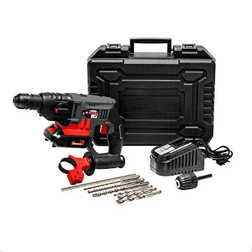 Mauk Akku- Bohrhammer- Set SDS Aufnahme 18V Li- Ion Dualgear 6 Bohrer - Schlagschrauber, Bohrmaschine