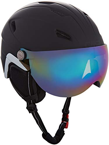 CMP WA-2 Ski Helmet with Visor, Casco da Sci Unisex-Adulto, Nero, XL