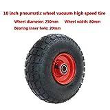Rueda Vacuum de alta velocidad de 10 pulgadas, para ruedas de remolque, resistentes al desgaste, resistentes a la corrosión y duraderas