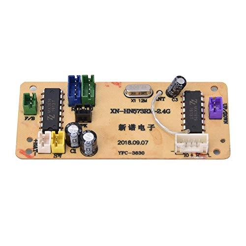 T best Control Remoto de aleación de ingeniería del Receptor del Tablero Receptor del Coche para huina 1573 Juguete eléctrico RC Modelo de Coche Accesorios(Amarillo)