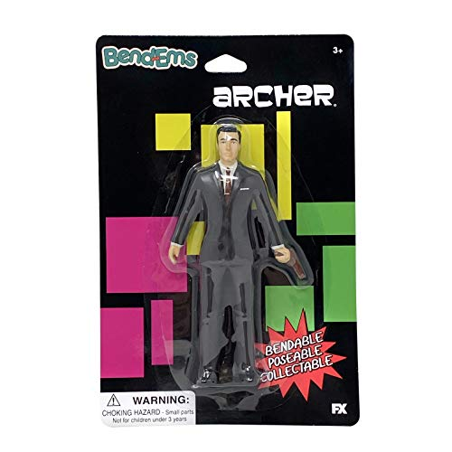 Sunny Days Entertainment Archer BendEms Spy - Bendable Posable Action Figure