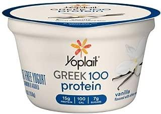 Yoplait Greek 100 Protein Yogurt 5.3 ounces (Pack of 12) (Vanilla)