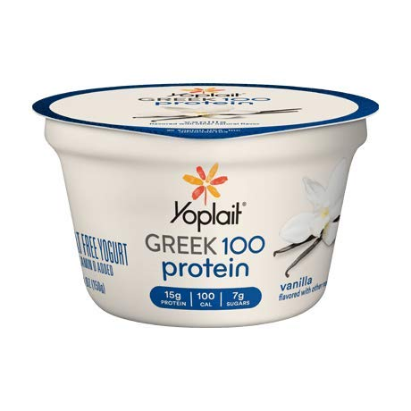 Yoplait Greek 100 Protein Yogurt 5.3 ounces (Pack of 12) (Vanilla)
