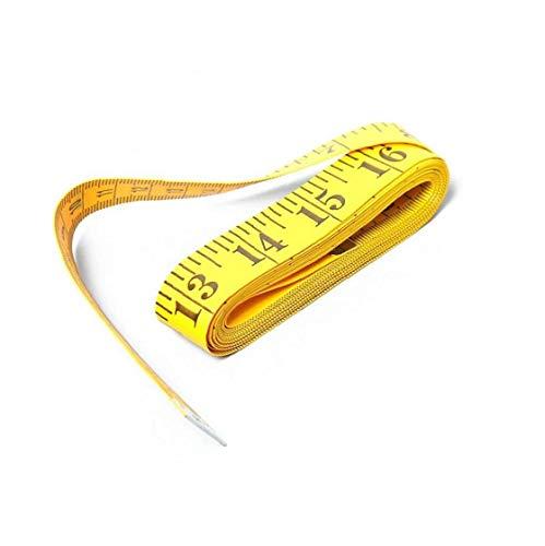 Utilisation multi double échelle souple Ruban à mesurer Règle flexible pour le corps médical perte de poids Mesure sur mesure couture Règle Tissu (3m)
