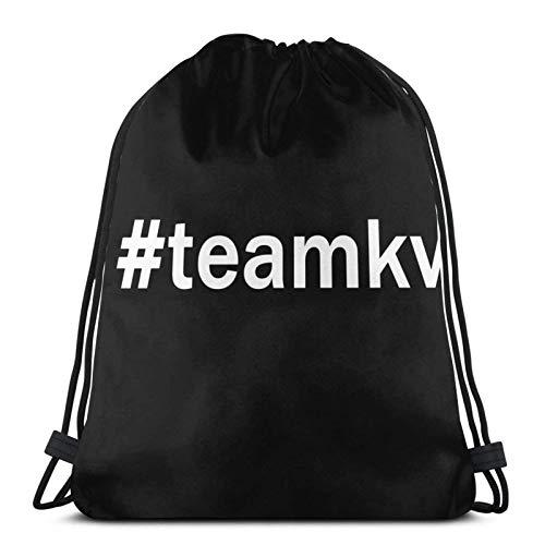 Hdadwy #Teamkv Sport Bag Gym Sack Mochila con cordón para Compras en el Gimnasio