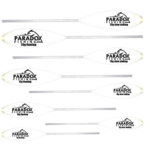 Paradox Fishing Sbirolino Set 8 Stück (6g,10g,15g,20g) langsam sinkend (4 St.) + schwimmend (4 St.) Set zum Forellenangeln Forellenköder Ideal für Forellenteig und Spoon – Spoons Forelle