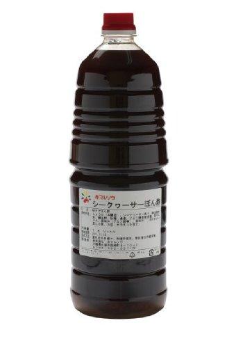 シークヮーサーぽん酢 1.8L×3本 赤マルソウ 本醸造醤油と沖縄産の青切シークワーサー果汁を使用したポン酢