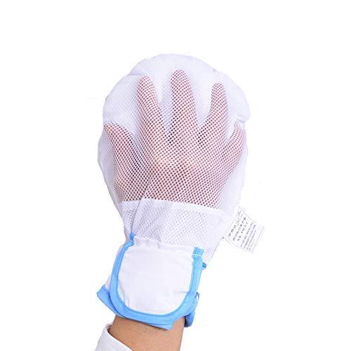 Guantes de sujeción de seguridad, relleno de esponja súper gruesa, guantes para evitar rasguños, manoplas de control manual Guantes de sujeción de seguridad Guante de fijación de muñeca para pacient