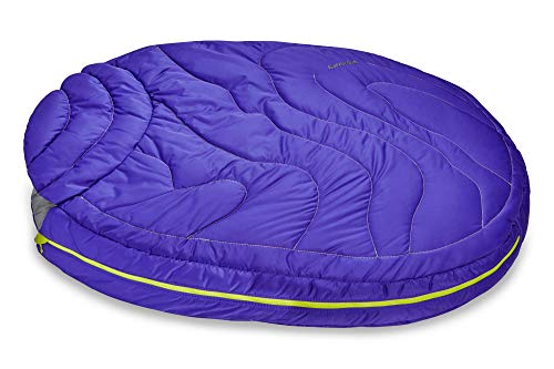 RUFFWEAR, Highlands Dog Sleeping Bag, Water-Resistant Portable Dog Bed for Outdoor Use, Huckleberry...