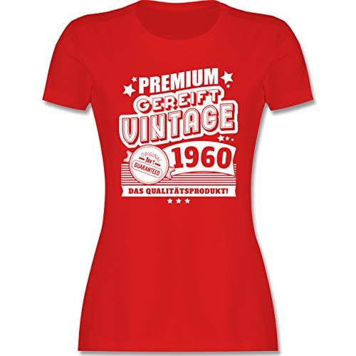 Geburtstag - Premium gereift Vintage 1960 60. Geburtstag - L - Rot - Jahreszahl - L191 - Tailliertes Tshirt für Damen und Frauen T-Shirt