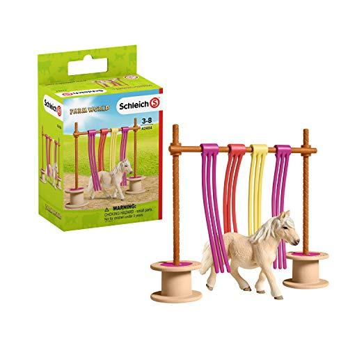 Schleich 42484 Farm World Spielset - Pony Flattervorhang, Spielzeug ab 3 Jahren