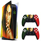 PS5 Protective Skin - Marley - Compatible with Sony PlayStation 5 - Skins Vinly Wrap for 2 Controllers and Console