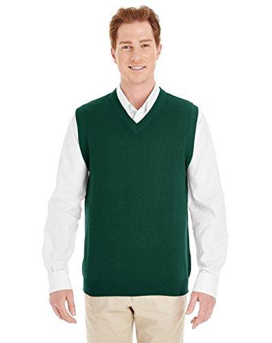Harriton Mens Pilbloc V-Neck Sweater Vest (M415) -HUNTER -XL