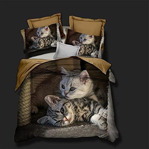 Bedclothes-Blanket Juego de sabanas Cama 150,Impresión Digital 3D Conjunto de Tres Piezas de Almohada Mangas de Cama-Di_1 Conjunto de Funda de Almohada de 175 * 200 cm 2
