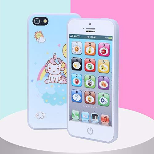 Juguete del teléfono de los niños, bebé educativo de la luz de la música del juguete del teléfono móvil del teléfono celular del bebé para los niños de los niños del bebé(White, black)