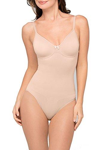 Body Wrap pour femmes à armatures Soft Cup Body Shapewear, nude, 1X