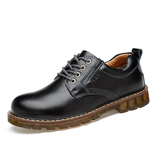 GY-HCJINxxj Hombres Oxford monótono talón sólido de Cuero for Colorear ata for Arriba los Zapatos Formales de la PU (Color : Brass, Size : 44EU)