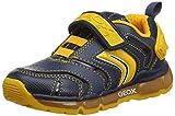 Geox J Android Boy B, Baskets garçon, Bleu (Navy/DK Yellow C4229), 38 EU