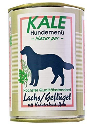 Kale Lachs Geflügel Hundefutter Nassfutter mit Kräuterkartoffeln (12 x 400g)