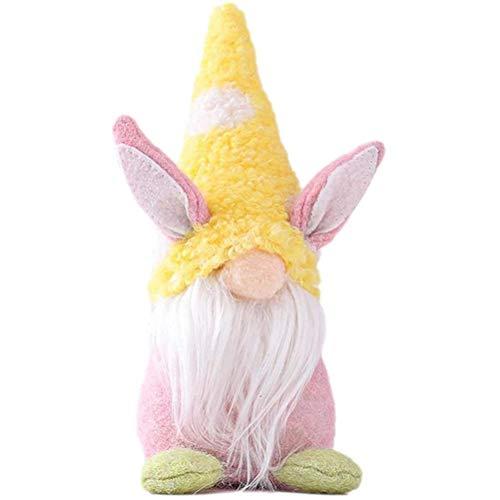 Muñeca de Conejo de Pascua, muñeca de Conejito de Pascua, decoración de Conejito de Pascua, Adornos de Fieltro de Pascua, Accesorios de decoración de Pascua duraderos y no tóxicos para Ventanas