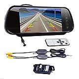 Drahtlose Rückfahrkamera Kit Digital 7'LCD Spiegel Monitor Auto Rückfahrkamera Nachtsicht Parkplatz Monitor Für Auto/Fahrzeug/LKW/Van/Camper