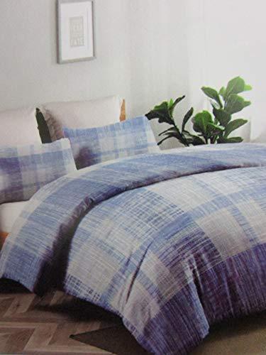 Pago Poco Juego de funda nórdica con diseño de luna, para cama individual, matrimonial, 100% algodón, funda nórdica + 2 fundas de almohada