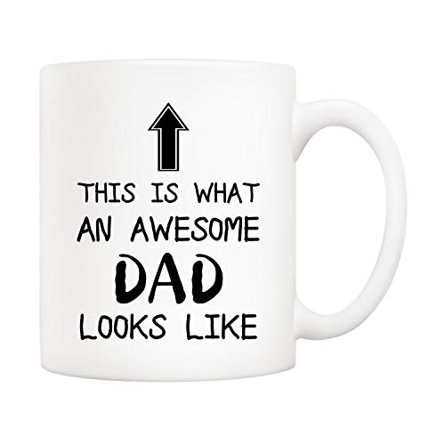 5Aup Christmas Gifts Funny Awesome Dad Coffee Mug, This Is What an Awesome Dad Looks Like, 11Oz...